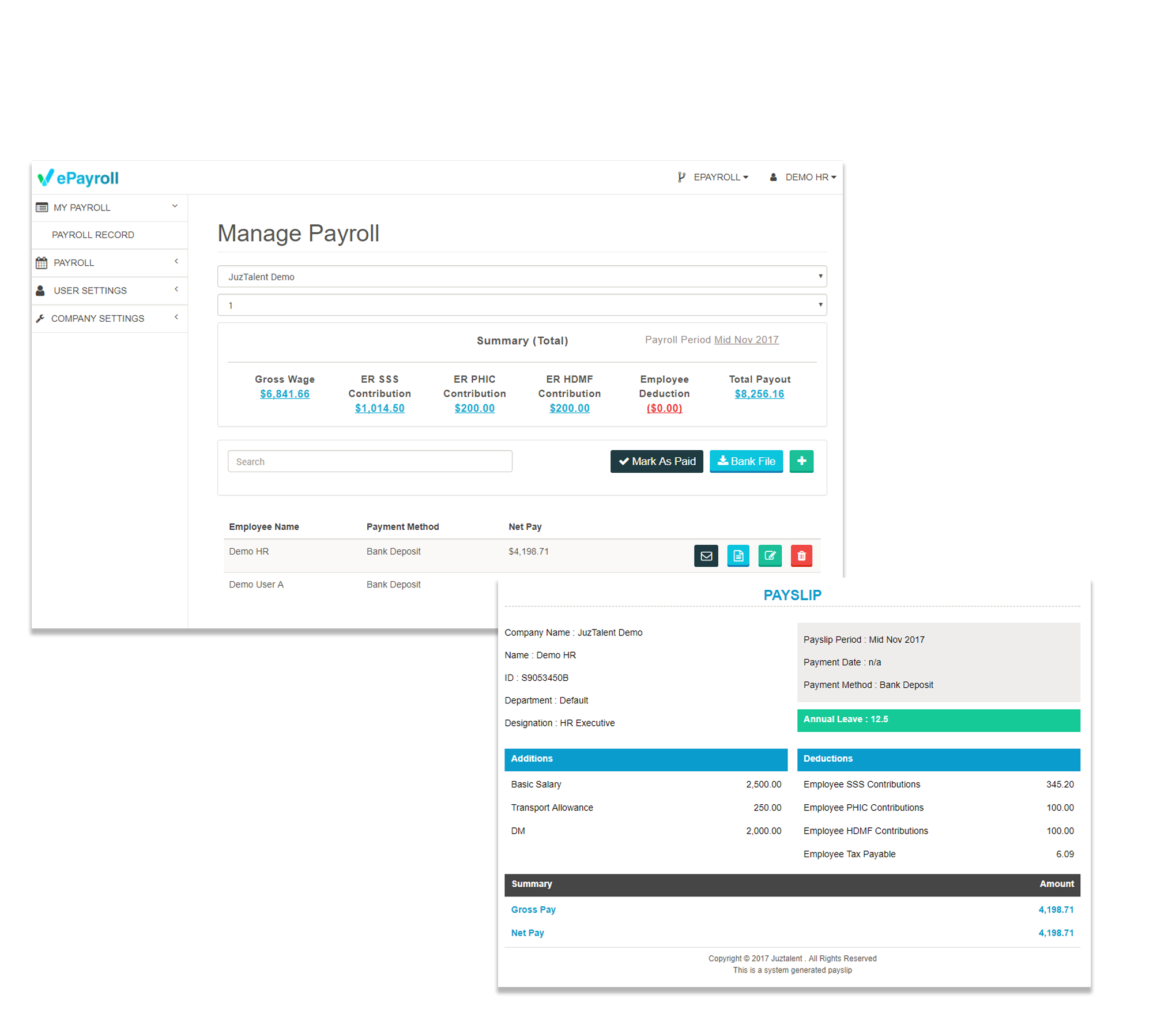 flexible manage payroll