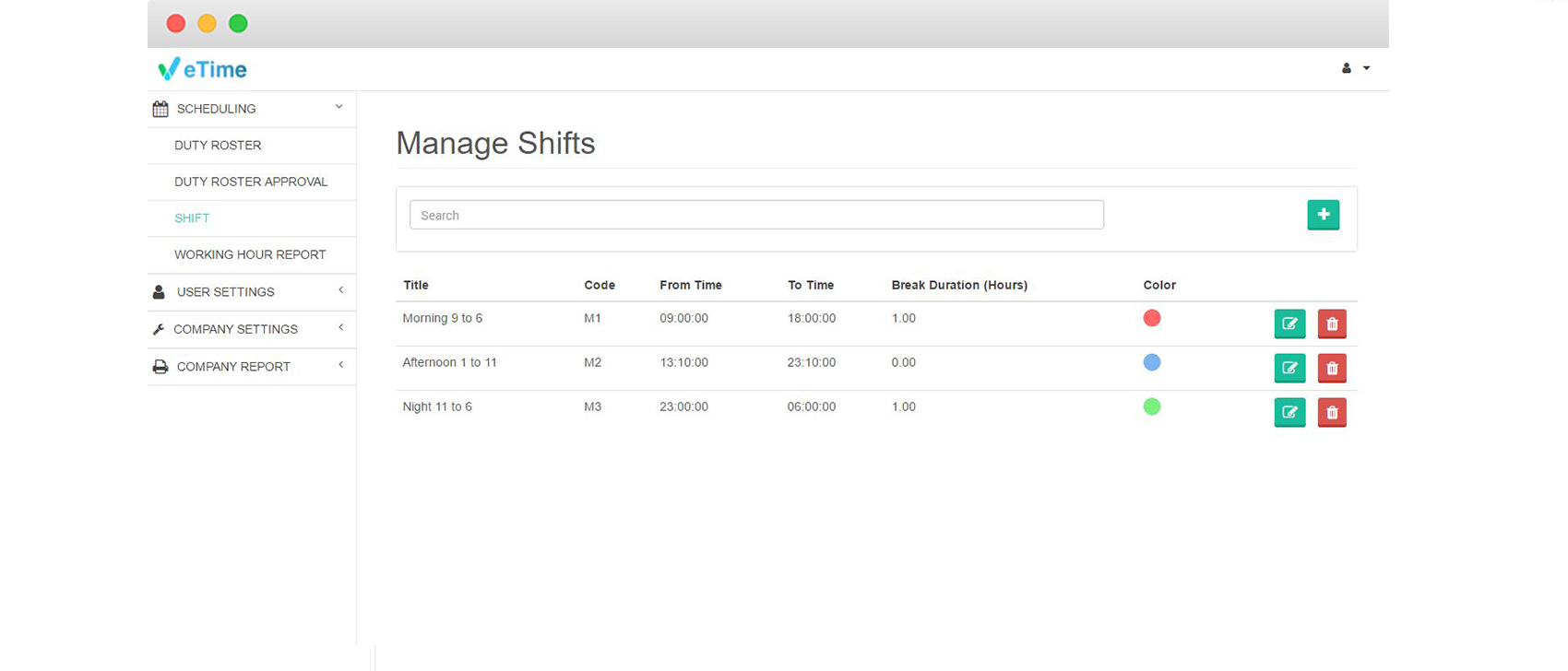 etime manage shifts