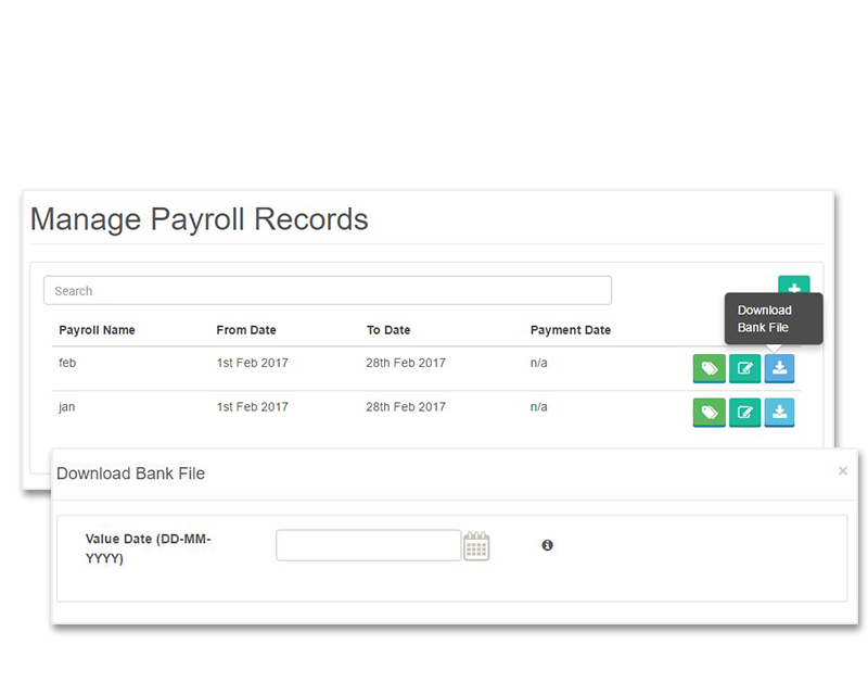 manage payroll records
