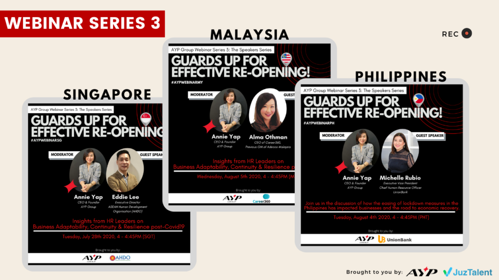 AYP Group x JuzTalent Webinar Series - The Speakers Series